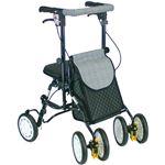 シルバーカー/歩行車/アクティブピッチ 杖立て/反射機能付き 高さ5段階調整可 (歩行補助用品/介護用品) ブラック(黒)