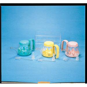 (まとめ)浅井商事吸飲みホルダー付吸呑器(3)ピンク100117【×5セット】