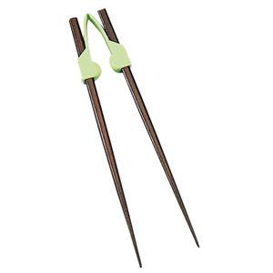 (まとめ)青芳製作所 食事用具 楽々箸(クリップタイプ) グリーン 5315 531【×5セット】