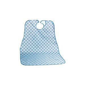 (まとめ)川本産業 ポラミー食事用エプロン ブルー 039-100110-00【×5セット】