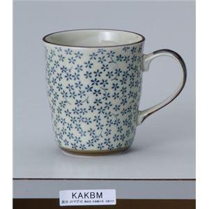 (まとめ)丸一国府商店食事用具蓋つきマグカップ(2)古染藍小花【×5セット】