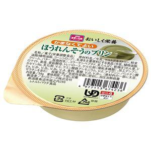 (まとめ)ホリカフーズ介護食オイシク栄養(2)ほうれんそうのプリン(12個入)567423【×5セット】