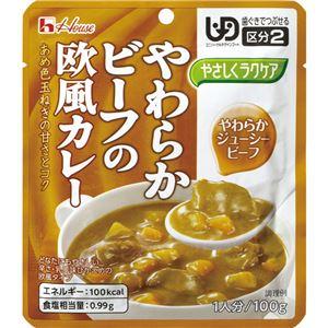 (まとめ)ハウス食品 介護食 やさしくラクケア(1)ヤワラカビーフの欧風カレー 1個 84561【×80セット】 - 拡大画像