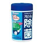 (まとめ)和光堂 除菌 アルコール配合除菌ウエッティー 120枚入 W40【×10セット】