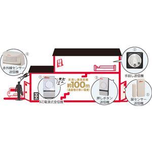 (まとめ)オーム電機通報装置ワイヤレスチャイム(5)扉センサー送信機08-0507【×2セット】