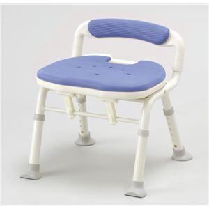 アロン化成 シャワーチェア コンパクト折リタタミシャワーベンチIC骨盤サポート ブルー 536-380 - 拡大画像