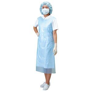(まとめ)川本産業 入浴介助エプロン ディスポエプロン袖なし ブルー 027-171092-00【×2セット】