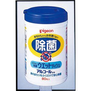 (まとめ)ピジョン 除菌 除菌ウェットティシュボトル80枚入り 10124【×10セット】