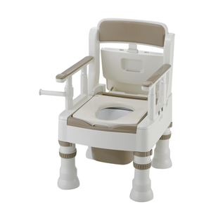 リッチェル 樹脂製ポータブルトイレ ポータブルトイレきらくミニでか(2)MS-D型アイボリー 45631