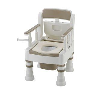 リッチェル 樹脂製ポータブルトイレ ポータブルトイレきらくミニでか(4)MY-D型アイボリー 45641