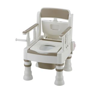 リッチェル 樹脂製ポータブルトイレ ポータブルトイレきらくミニでか(6)MH-D型アイボリー 45651