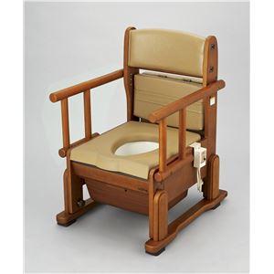 ウチヱ 木製ポータブルトイレ さわやかCH(ホット・自在) 8242