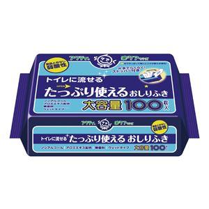 (まとめ)日本製紙クレシアおしりふきアクティ流せるたっぷり使えるオシリフキ100枚入80622【×10セット】