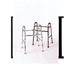 赤井歩行器折りたたみ歩行器シルバー2865【非課税】