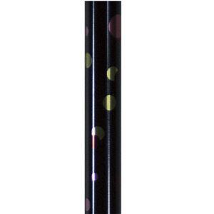 島製作所 ステッキ(伸縮) 伸縮細型ネックステッキ 水玉ネイビー 67-P4 - 拡大画像
