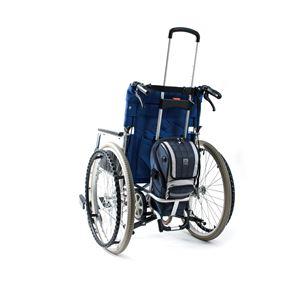 (まとめ)ナンブ 車いす用小物 ボンベ楽(ラック)【×2セット】