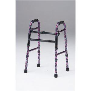星光医療器製作所 歩行器 アルコー5型 (1)花柄 100569