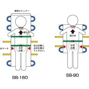 松岡施設用家具・備品救護担架(4)SB-90A