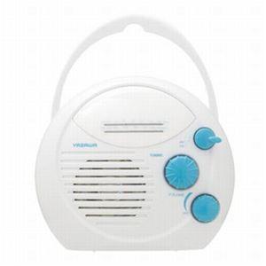 (まとめ)シャワーラジオ(白) ヤザワ SHR01WH【×5セット】