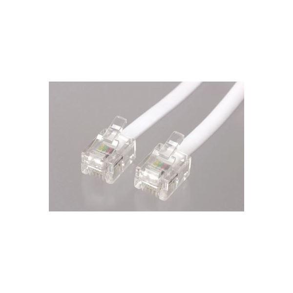 (まとめ)ストレートモジュラーケーブル 1.5m 白 ヤザワ TP1015W【×20セット】f00