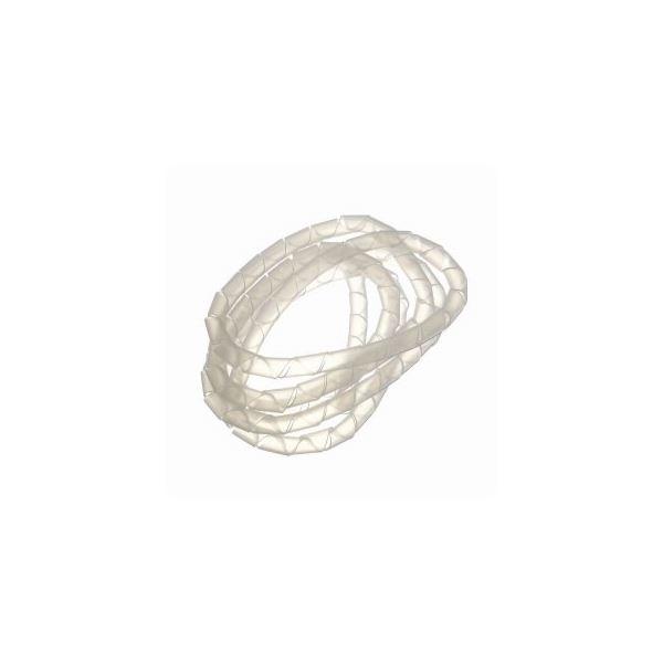 (まとめ)まとめるチューブ 内径:6mm 白 1.5m ヤザワ FCT6W【×50セット】f00