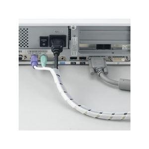 (まとめ)まとめるチューブ 内径:6mm 白 1.5m ヤザワ FCT6W【×50セット】 h03
