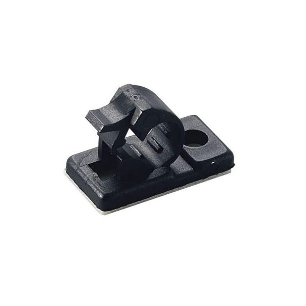 (まとめ)ケーブルクリップ 内径:6mm 黒 10個入 ヤザワ FKN6【×25セット】f00