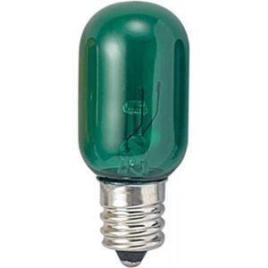 (まとめ)ナツメ球電球T20E125W緑ヤザワT201205CG【×60セット】