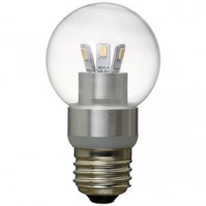 (まとめ)G50ボール形LED電球3W電球色 ヤザワ LDG3LG50【×3セット】