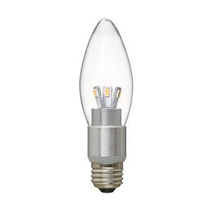 (まとめ)LED電球C37シャンデリア形調光対応電球色E26ヤザワLDC4LG37D【×2セット】