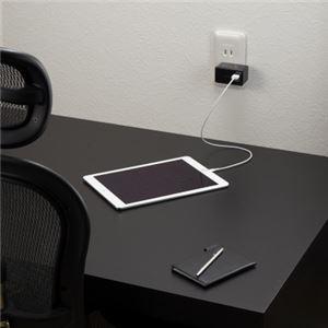 (まとめ)AC/USB変換アダプター2USB3.1Aブラック ヤザワ MCU31A2BK【×2セット】 f05