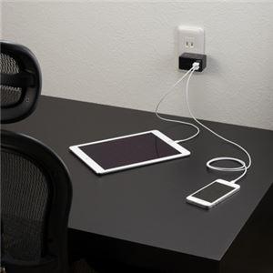 (まとめ)AC/USB変換アダプター2USB3.1Aブラック ヤザワ MCU31A2BK【×2セット】 f06