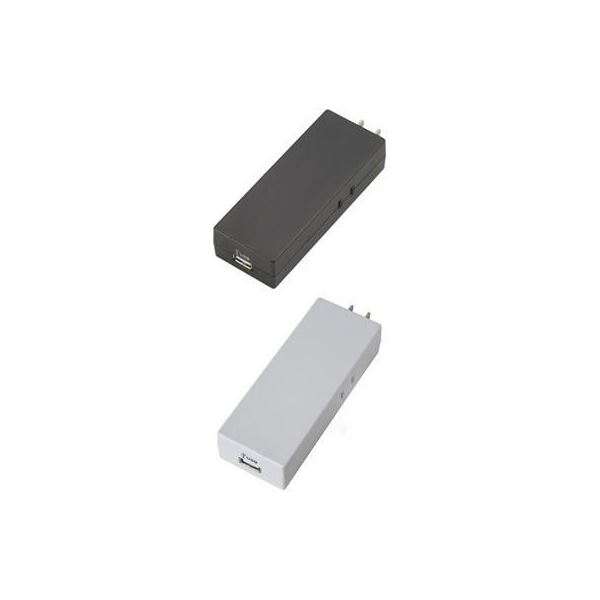 (まとめ)USBタップ 2AC+1USB2A ヤザワ MC2AU2ABK【×3セット】f00