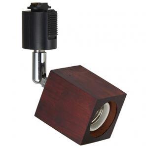 (まとめ)ウッドヌードスポットライト(ダクトレール用)スクエアダークウッド電球なし(1灯)ヤザワY07LCX60X03DW【×2セット】