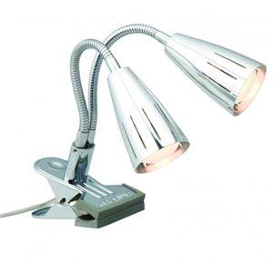 ツインクリップライトクローム30W2灯ヤザワY07CFW30X02CH
