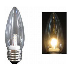 【10個セット】シャンデリア形LEDランプ電球色E26クリア ヤザワ LDC1LG372-10SET