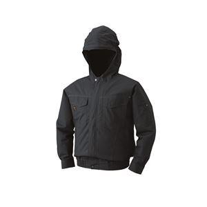空調服 フード付綿薄手長袖ブルゾン リチウムバッテリーセット BM-500FC69S2 チャコール M - 拡大画像