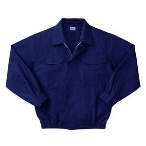 空調服 綿薄手長袖作業着 KU90550 【カラーダークブルー: サイズL】 服地のみ - 拡大画像