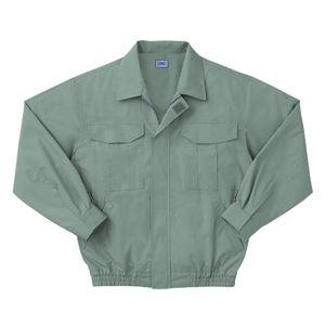 空調服 綿薄手長袖作業着 KU90550 【カラーモスグリーン: サイズ L】 服地のみ - 拡大画像