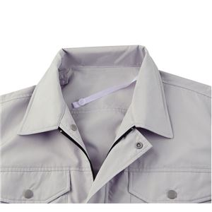空調服 綿薄手長袖作業着 KU90550 【カラーモスグリーン: サイズLL】 服地のみ