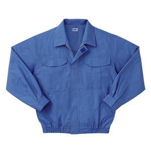 空調服 綿薄手長袖作業着 KU90550 【カラーライトブルー: サイズXL】 服地のみ