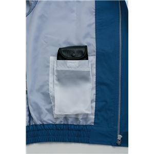 裏地式綿厚手ワーク空調服  【カラー:ダークブルーサイズ:2L】 リチウムバッテリーセット