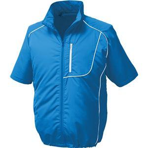 ポリエステル製半袖空調服 BP500S リチウムバッテリーセット 【カラー:ブルー×ホワイト サイズ:L】