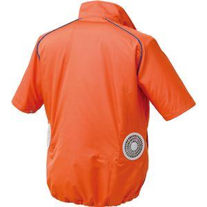 ポリエステル製半袖空調服 BP500S リチウムバッテリーセット 【カラー:シルバー×ブラック サイズ:XL】