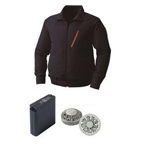 空調服ポリエステル製空調服大容量バッテリーセットファンカラー:グレー0510G22C03S3【カラー:ネイビーサイズ:L】