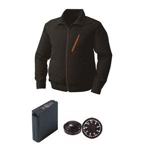 空調服ポリエステル製空調服大容量バッテリーセットファンカラー:ブラック0510B22C09S6【カラー:ブラックサイズ:4L】