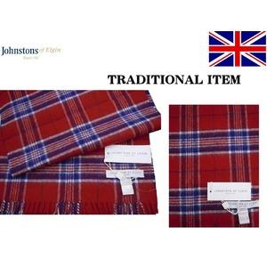 英国 人気の老舗ファクトリー JOHNSTONS ジョンストンズタータンマフラー American
