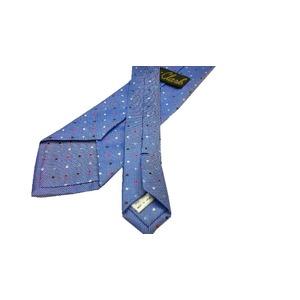 Clark クラークプレミアム ハンドメイドネクタイ 水玉 ロイヤルブルー 【日本製/京都西陣製】