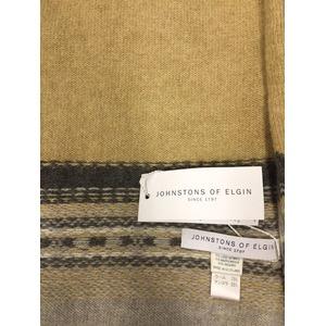 英国製 JOHNSTONS ジョンストンズマフラー正規輸入品 OATMEAL h01