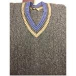 Made In Scotland William Lockie クリケット(チルデン)セーター 正規輸入品  グレー40